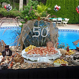 Birthday Catered Seafood Bar